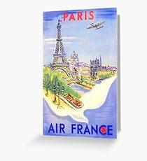 Weinlese-Paris-Reise-Plakat Grußkarte