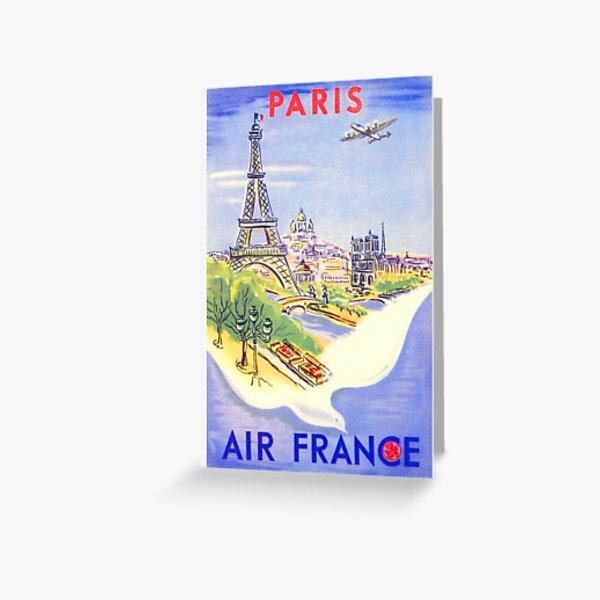 Vintage Paris Travel Poster Greeting Card