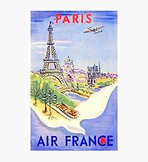 Vintage Paris Travel Poster Photographic Print