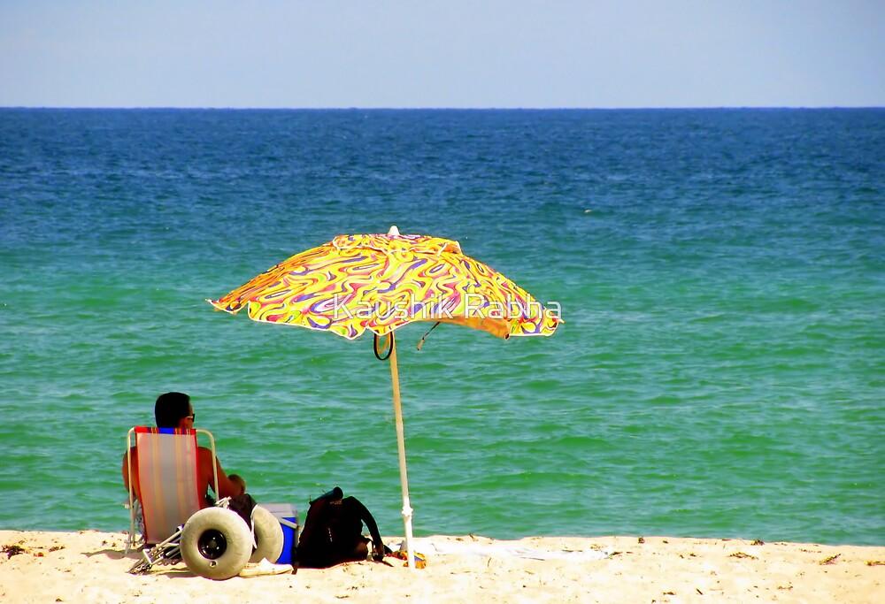 The Umbrella and the Sea by Kaushik Rabha