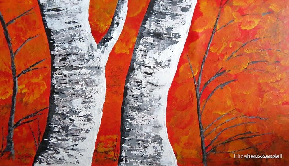 Flexible birch trees by Elizabeth Kendall
