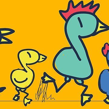 The chicken family by prienjo