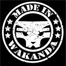 Made in Wakanda (White)- Old Skool by jamdraws