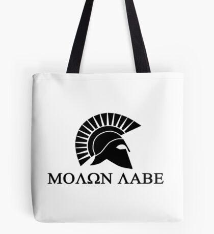 molon labe Tote Bag