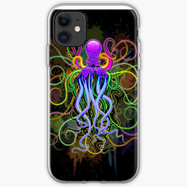 Octopus Psychedelic Luminescence iPhone Soft Case
