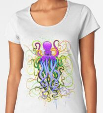 Octopus Psychedelic Luminescence Women's Premium T-Shirt