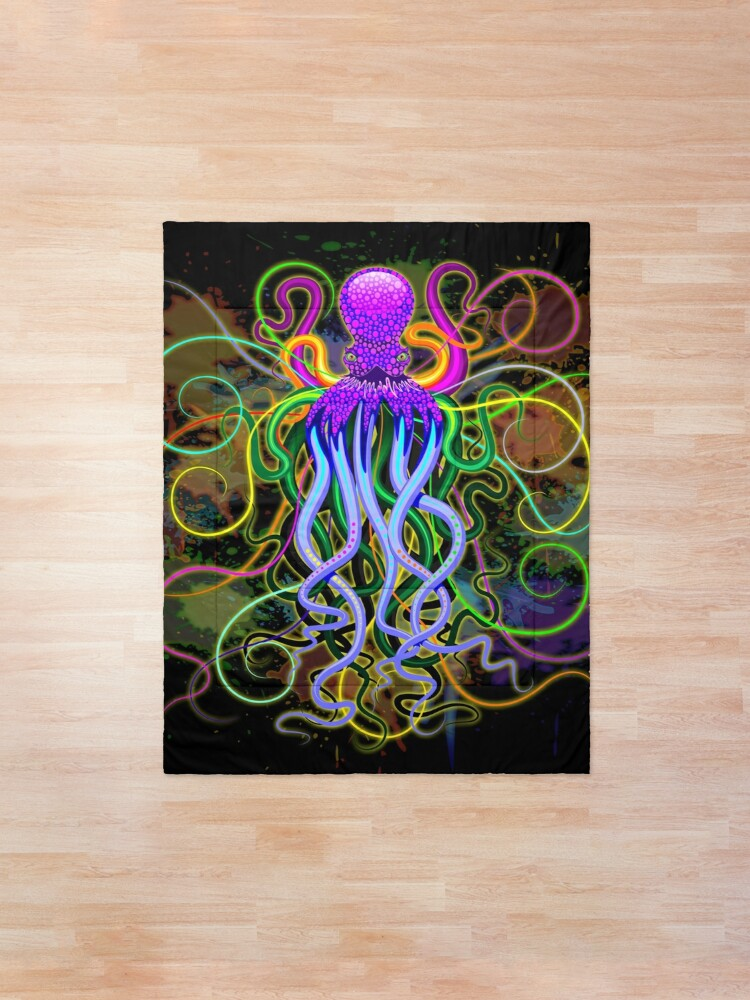 Alternate view of Octopus Psychedelic Luminescence Comforter