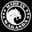 Made in Wakanda (White)- New Skool by jamdraws