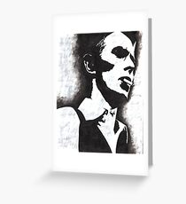 Bowie V Greeting Card