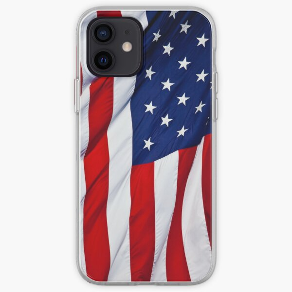 American Flag flying iPhone Soft Case
