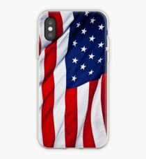 American Flag flying iPhone Case