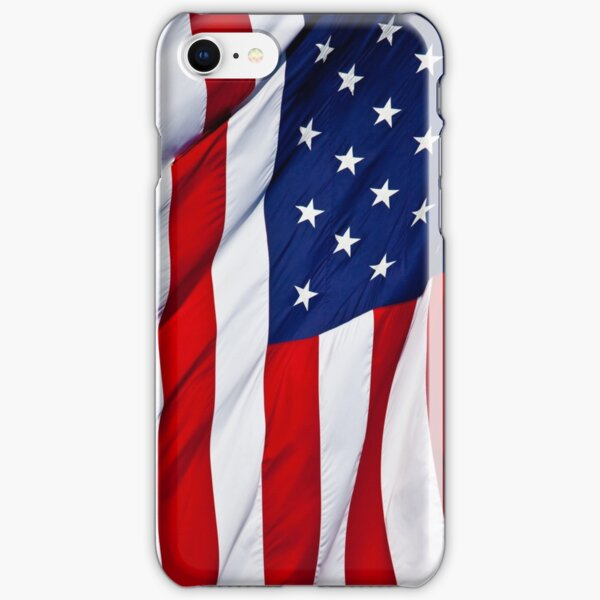American Flag flying iPhone Snap Case