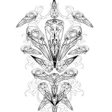 Crow Skulls Print  by MazzaLuzza
