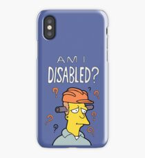 "The Simpsons ""Am I Disabled?"" Book iPhone Case/Skin"