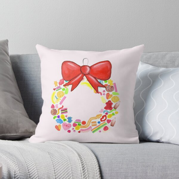 Deck The Halls With Lots Of Lollies Throw Pillow