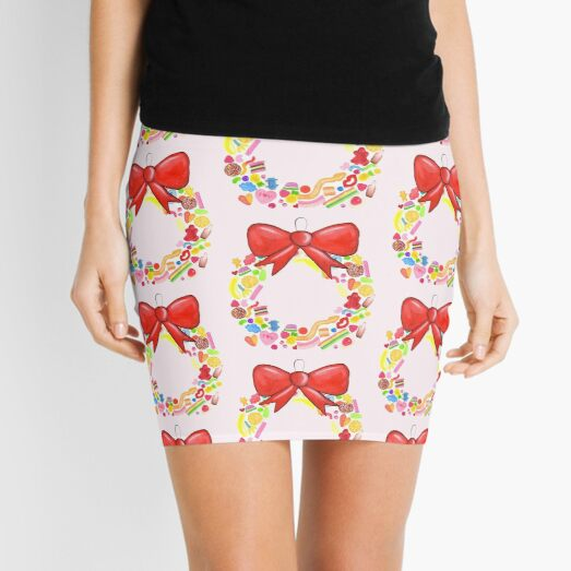 Deck The Halls With Lots Of Lollies Mini Skirt