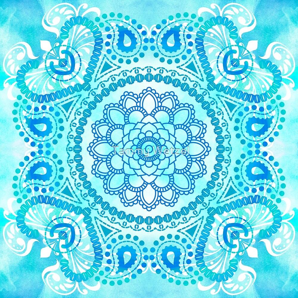 Blue Lotus Mandala by Tammy Wetzel