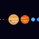 Our Rad Solar System (To Scale) by jezkemp