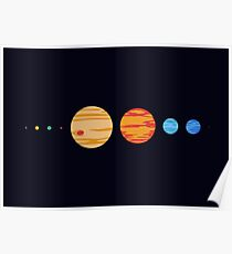 Our Rad Solar System (To Scale) Poster