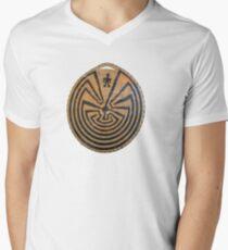 Basket Weave MAZE Men's V-Neck T-Shirt