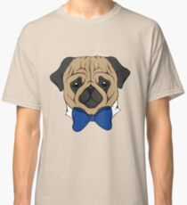 Pug With Bow Tie Classic T-Shirt