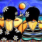 Sisters Fishing by Karin Taylor
