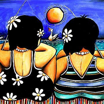 Sisters Fishing by karin