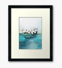 White Cranes Framed Print