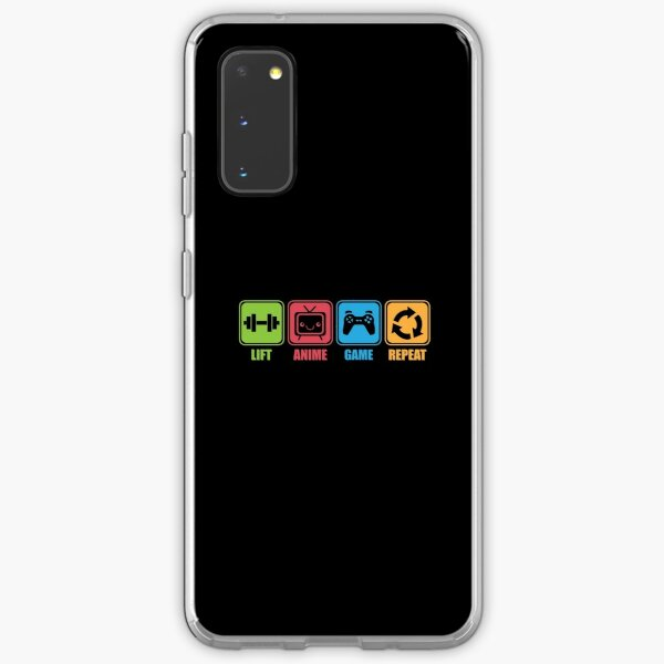 Lift, Game, Anime, Repeat - Icon Pictogram Samsung Galaxy Soft Case