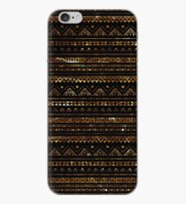 Aztec Black Tinsel Gold iPhone Case