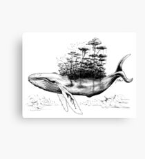 The Jungle Sky Whale Canvas Print