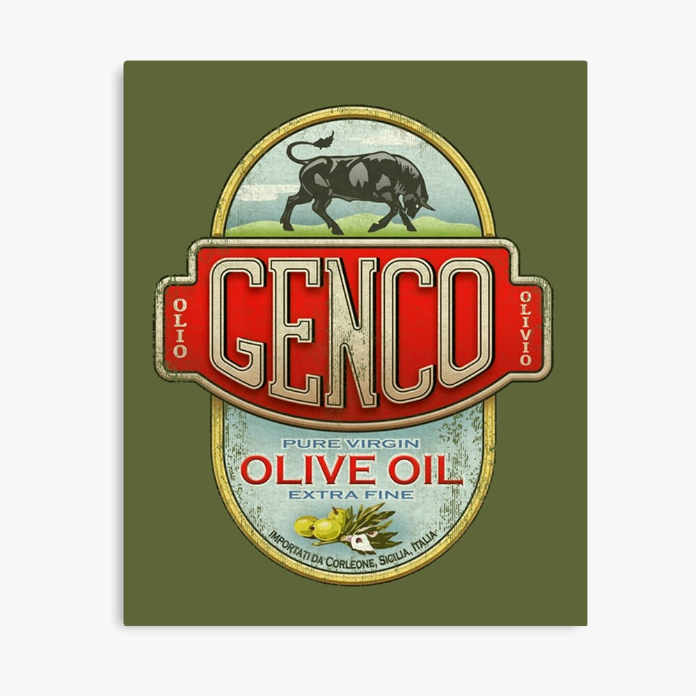 The Godfather - Genco Olive Oil Co. Canvas Print