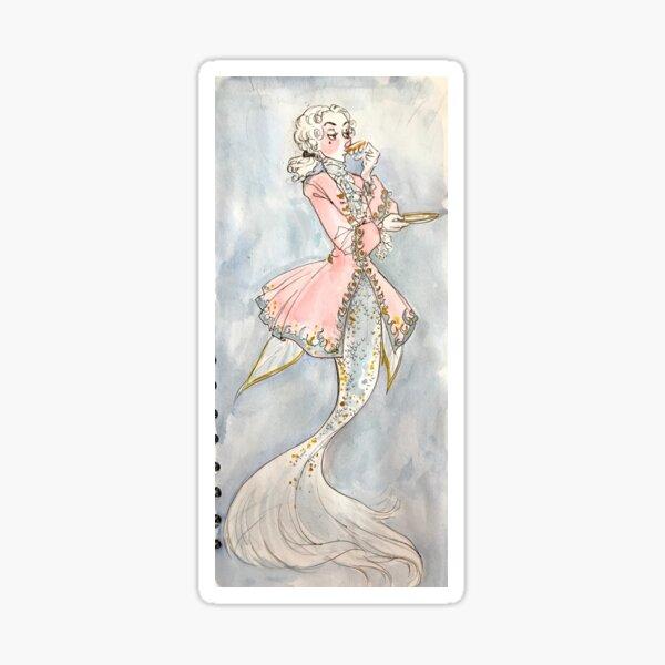 rococo mermaid Sticker