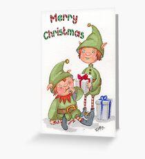 At Santa's Workshop Greeting Card