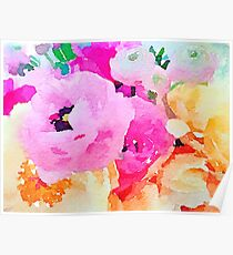 Pink Flower Power  Poster