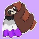 Asexual LGBTQ* Pride Sloth by riotcakes