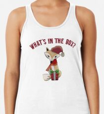 Cute Christmas What's In The Box Fox Gift Women's Tank Top
