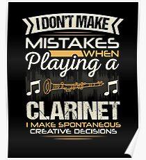 Póster Errores del jugador de clarinete