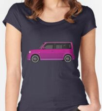 Vectored Boxcar Purple Women's Fitted Scoop T-Shirt