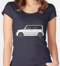 Vectored Boxcar White Women's Fitted Scoop T-Shirt
