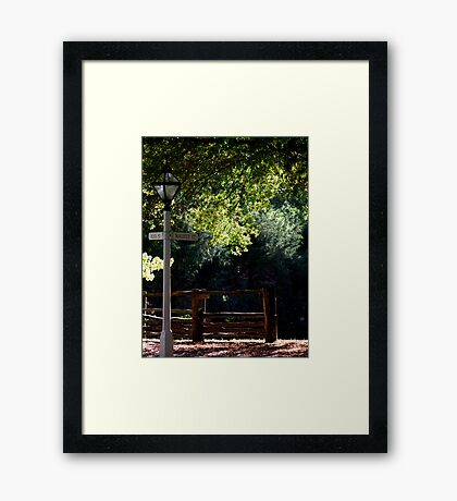 Walnut & Main Framed Print