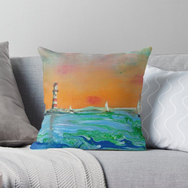 Calm the Storm Throw Pillow