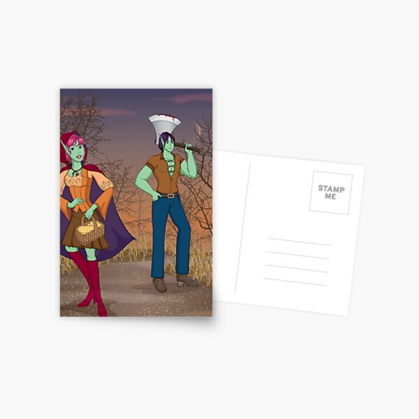 Red and the Woodsman Postcard