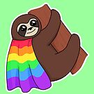 Lesbian & Gay LGBTQ* Pride Sloth by riotcakes