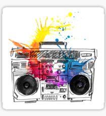 music recorder. Boom box  Sticker