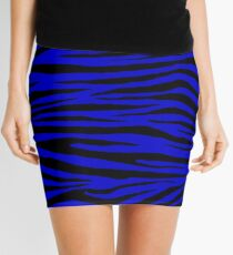 0410 Medium Blue Tiger Mini Skirt