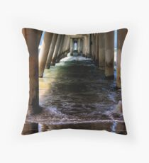 Sand Pumping Jetty Throw Pillow
