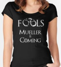 #TeamPatriot - Fools - Muller is Coming!! Women's Fitted Scoop T-Shirt