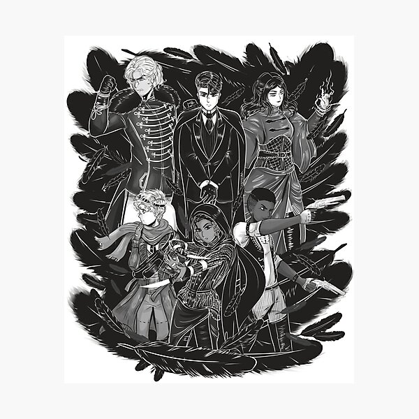 Inktober: Six of Crows Photographic Print