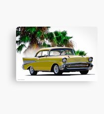 1957 Chevrolet Bel Air Two-Door Hardtop I Canvas Print